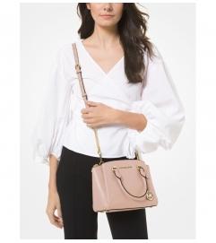 MICHAEL Michael Kors Maxine Small Pebbled Leather Satchel