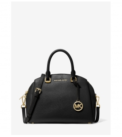 MICHAEL Michael Kors Maxine Medium Pebbled Leather Dome Satchel