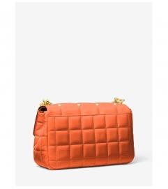 MICHAEL Michael Kors SoHo Large Studded Quilted Leather Shoulder Bag