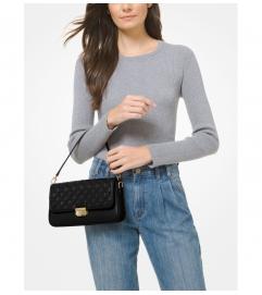 MICHAEL Michael Kors Bradshaw Small Woven Leather Shoulder Bag
