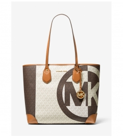MICHAEL Michael Kors Eva Large Two-Tone Logo Tote Bag