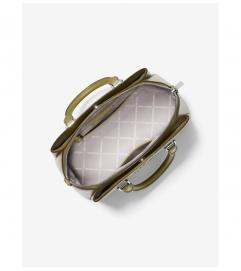 MICHAEL Michael Kors Maxine Medium Pebbled Leather Dome Satchel
