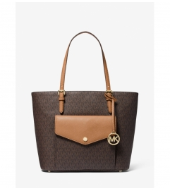 MICHAEL Michael Kors Jet Set Large Logo Pocket Tote Bag
