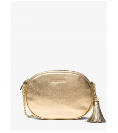MICHAEL Michael Kors Ginny Medium Metallic Leather Crossbody