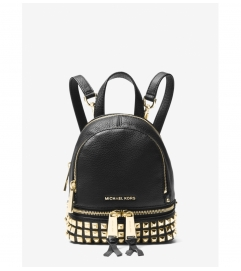 MICHAEL Michael Kors Rhea Mini Studded Leather Backpack
