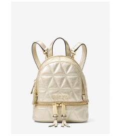 MICHAEL Michael Kors Rhea Mini Metallic Quilted Leather Backpack