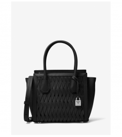 MICHAEL Michael Kors Mercer Studio Woven Leather Crossbody