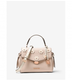 MICHAEL Michael Kors Bristol Small Floral Appliqué Leather Satchel