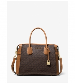 MICHAEL Michael Kors Mercer Medium Logo Belted Satchel