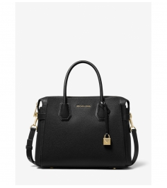 MICHAEL Michael Kors Mercer Medium Pebbled Leather Belted Satchel