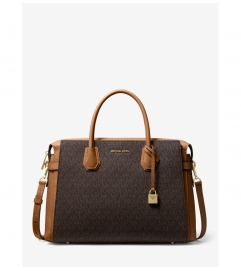 MICHAEL Michael Kors Mercer Large Logo Belted Satchel