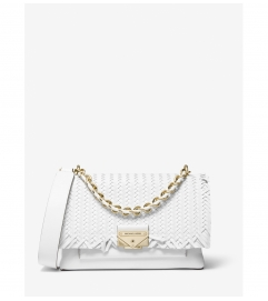 MICHAEL Michael Kors Cece Medium Woven Leather Shoulder Bag