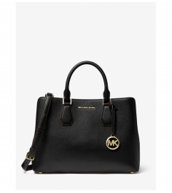 MICHAEL Michael Kors Camille Large Pebbled Leather Satchel
