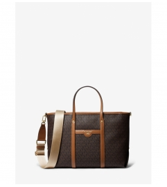 MICHAEL Michael Kors Beck Medium Logo Leather Tote Bag