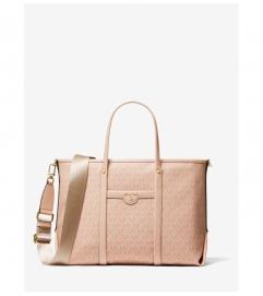 MICHAEL Michael Kors Beck Medium Logo Leather Tote Bag