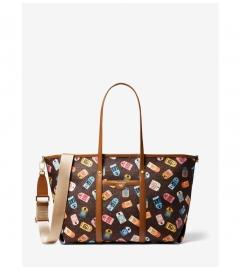 MICHAEL Michael Kors Beck Large Printed Logo Tote Bag