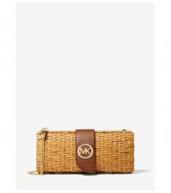MICHAEL Michael Kors Malibu Medium Rattan Convertible Clutch