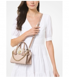 MICHAEL Michael Kors Carmen Extra-Small Color-Block Saffiano Leather Belted Satchel