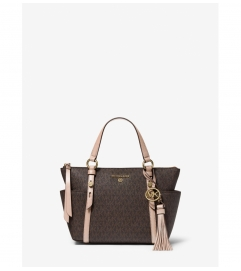 MICHAEL Michael Kors Sullivan Small Logo Top-Zip Tote Bag