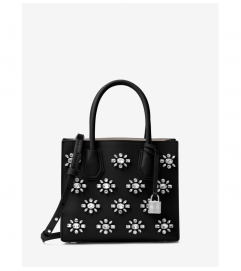 MICHAEL Michael Kors Mercer Crystal-Embellished Leather Crossbody