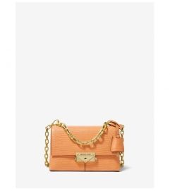 MICHAEL Michael Kors Cece Extra-Small Lizard Embossed Leather Crossbody Bag