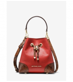 MICHAEL Michael Kors Mercer Gallery Extra-Small Two-Tone Embossed Leather Crossbody Bag