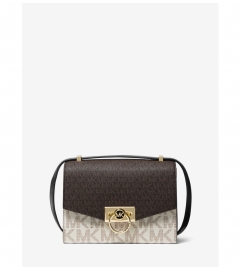 MICHAEL Michael Kors Hendrix Extra-Small Two-Tone Logo Convertible Crossbody Bag
