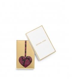 MICHAEL Michael Kors Large Heart Embossed-Leather Keychain