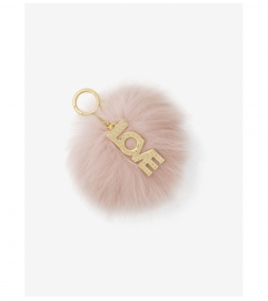 MICHAEL Michael Kors Fox Fur Key Chain with Love Charm