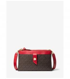 MICHAEL Michael Kors Medium Logo Double-Zip Crossbody Bag