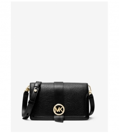 MICHAEL Michael Kors MK Charm Medium Pebbled Leather Crossbody Bag