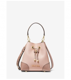 MICHAEL Michael Kors Mercer Gallery Extra-Small Color-Block Pebbled Leather Crossbody Bag