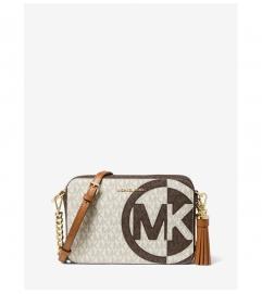 MICHAEL Michael Kors Ginny Medium Two-Tone Logo Crossbody Bag