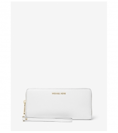 MICHAEL Michael Kors Leather Continental Wristlet