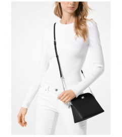 MICHAEL Michael Kors Large Crossgrain Leather Dome Crossbody