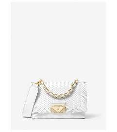 MICHAEL Michael Kors Cece Extra-Small Woven Leather Crossbody Bag