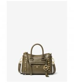 MICHAEL Michael Kors Carine Extra-Small Studded Pebbled Leather Crossbody Bag