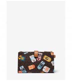 MICHAEL Michael Kors Adele Printed Logo Smartphone Wallet