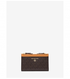 MICHAEL Michael Kors Small Logo Double Zip Card Case