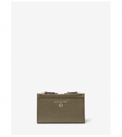 MICHAEL Michael Kors Small Pebbled Leather Double-Zip Card Case