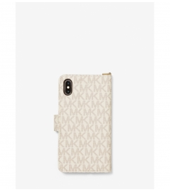 MICHAEL Michael Kors Logo Stripe Wristlet Folio Case For iPhone XS Max