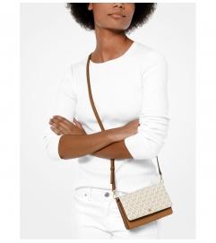MICHAEL Michael Kors Logo and Leather Convertible Crossbody Bag
