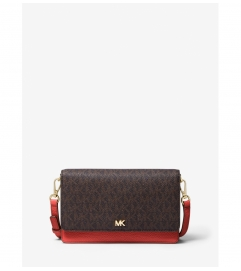 MICHAEL Michael Kors Logo and Leather Convertible Crossbody Bag
