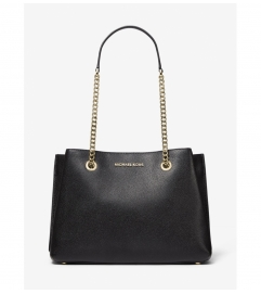 MICHAEL Michael Kors Teagan Large Pebbled Leather Shoulder Bag