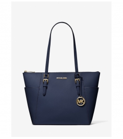 MICHAEL Michael Kors Charlotte Large Saffiano Leather Top-Zip Tote Bag