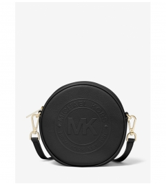 MICHAEL Michael Kors Fulton Small Logo Debossed Leather Canteen Crossbody Bag