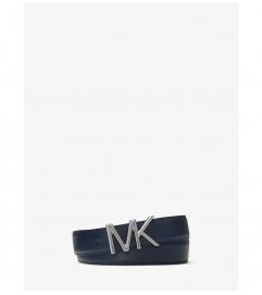 Michael Kors Mens Leather Logo Belt