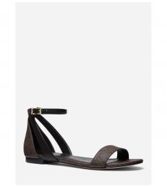 MICHAEL Michael Kors Cardi Logo and Leather Sandal