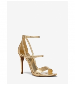 MICHAEL Michael Kors Cardi Metallic Snake Embossed Leather Sandal