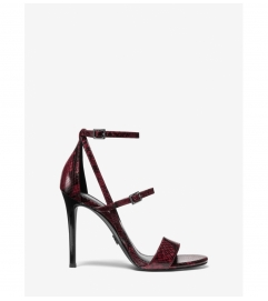 MICHAEL Michael Kors Cardi Snake Embossed Leather Sandal
